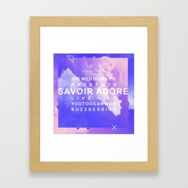 Savoir Adore Buzzsession Cover Art Framed Art Print