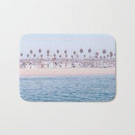 Vintage Newport Beach Print {3 of 4} | Photography Ocean Palm Trees Cool Blue Tropical Summer Sky Bath Mat