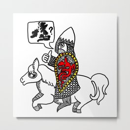 Norman Knight Metal Print