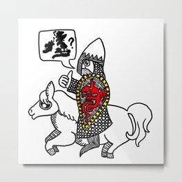 Norman Knight Metal Print