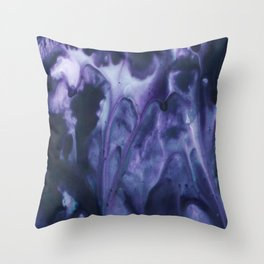 floating violets Throw Pillow