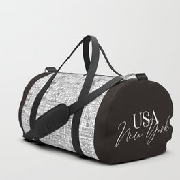 New York Hand Drawn Illustration Duffle Bag