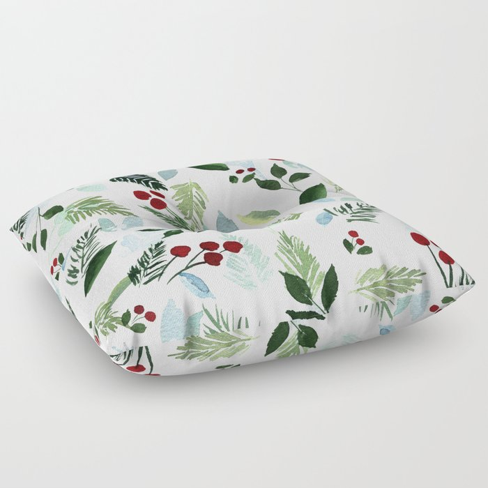 Blue Christmas Floor Pillow