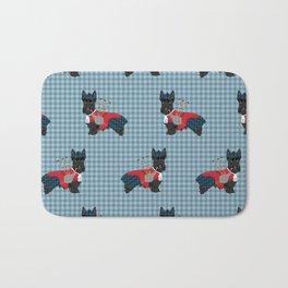 Scottish Terrier dog breed custom pet portrait funny dog pattern dog gifts all breeds Bath Mat