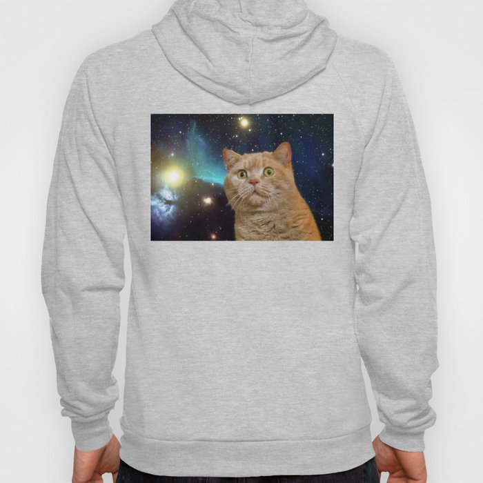 Cat staring at the universe Hoody