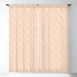peach diagonal bunting Blackout Curtain