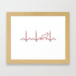 German Shepherd Heartbeat Framed Art Print