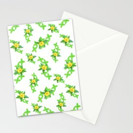 Airy Floral Pattern Stationery Cards