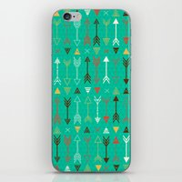 arrows iPhone & iPod Skins featuring Arrows by Claire Lordon