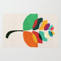 lotus flower Area & Throw Rugs featuring Lotus flower by Picomodi
