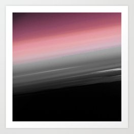Pink to Gray Smooth Ombre Art Print