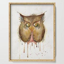 Vaguely Disturbing Owl Serving Tray