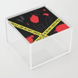 Crime Scene Design (Police Line Do Not Cross) Acrylic Box