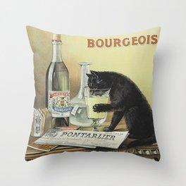Vintage poster - Absinthe Bourgeois Throw Pillow