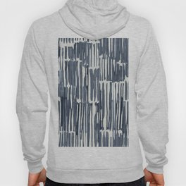 Simply Bamboo Brushstroke Indigo Blue on Lunar Gray Hoody