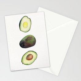 Avocado Watercolor Stationery Cards
