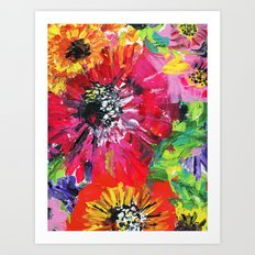 colorful flowers Art Print