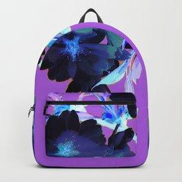 Deep Purple Moon Flowers Backpack