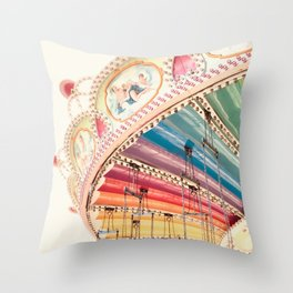 Flying Carousel 1 - Six Flags America Throw Pillow