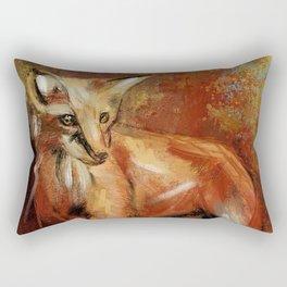 Abstract Red Fox Rectangular Pillow
