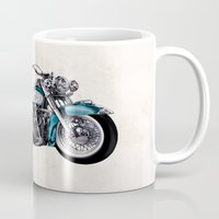 old school Mugs featuring Old School by Art Edel