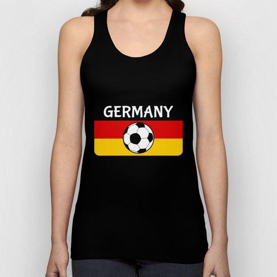 German Flag Football Unisex Tank Top