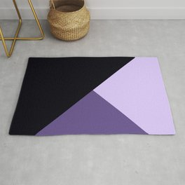 Trinity Color Block Ultra Violet Rug