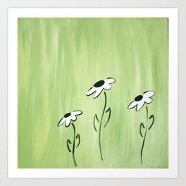 Green Coneflower Art Print