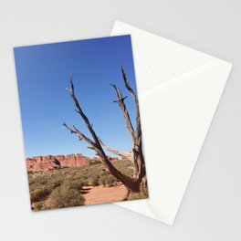 lone desert tree Stationery Cards