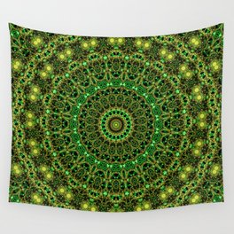 Forest Light Mandala Wall Tapestry