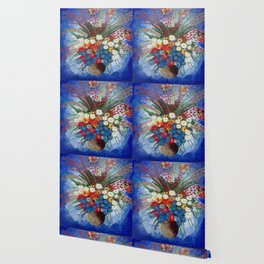 the blue flowers Wallpaper