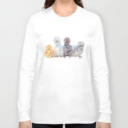 Silkie Chicken Huddle Long Sleeve T-shirt