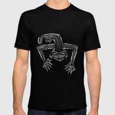 The monster that lives on your roof. (Black and white version) Black Mens Fitted Tee MEDIUM
