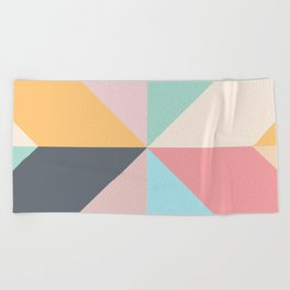 Geometric Pattern II Beach Towel