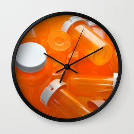 Pill Bottles Wall Clock