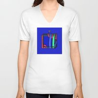 frames V-neck T-shirts featuring Frames 01 by Stefan Stettner