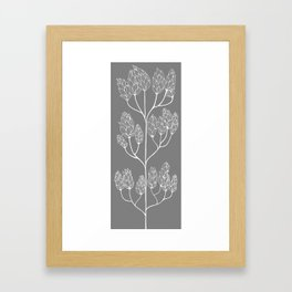 Leaf-like Sumac in Grey Framed Art Print