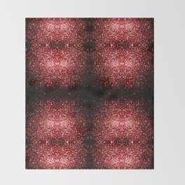 Beautiful Glamour Red Glitter sparkles Throw Blanket