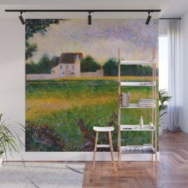Landscape of the Ile de France Post-Impressionism landscape Oil Painting Countryside Cottages Farm Wall Mural