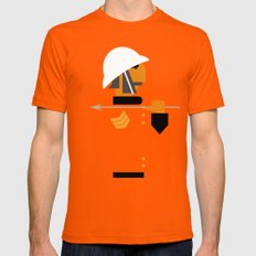 The man who would be king LARGE Mens Fitted Tee Orange
