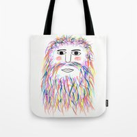 wizard Tote Bags featuring Wizard by Simbo