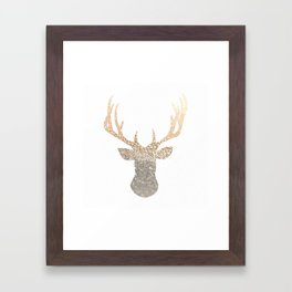 GOLD DEER Framed Art Print