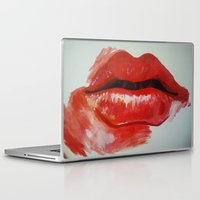 lips Laptop & iPad Skins featuring Lips by Alicia Evans
