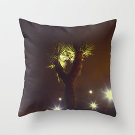Joshua Tree Nightlights Throw Pillow