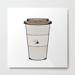 Funny coffee mug Metal Print