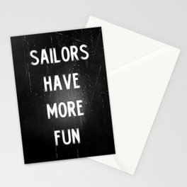 Sailors have more fun Stationery Cards