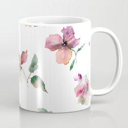 Watercolor roses. Delicate pink flowers. Coffee Mug