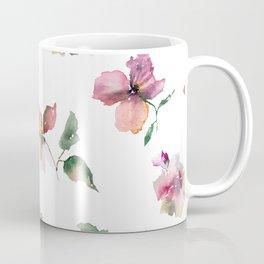 Watercolor roses. Delicate pink flowers. Coffee Mug