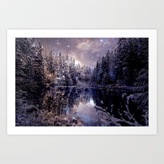 A Cold Winter's Night Neutral Art Print