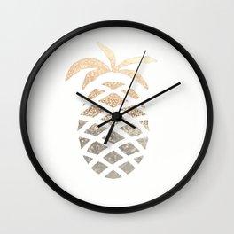 GOLD PINEAPPLE Wall Clock